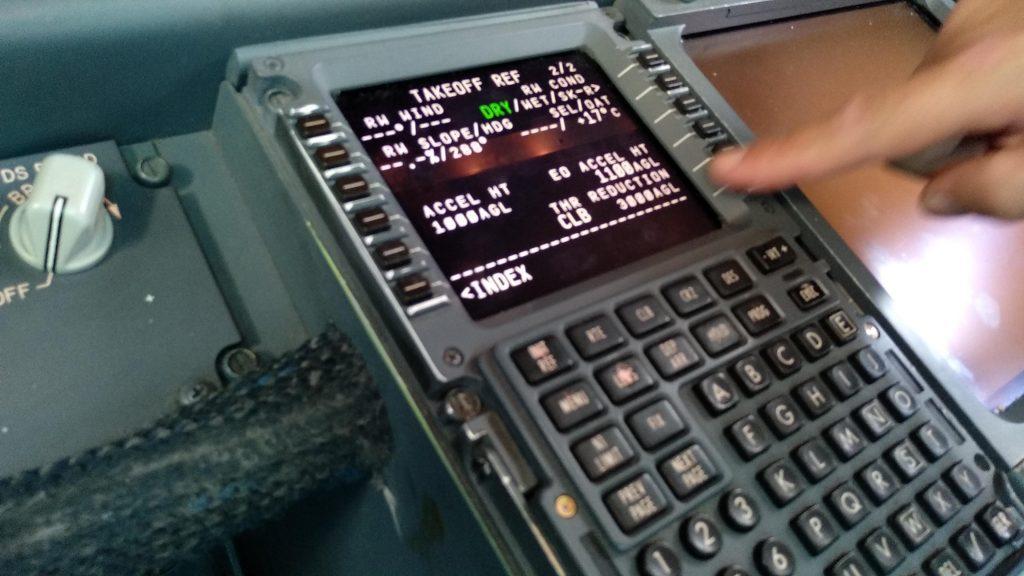 Boeing 737 FMC Panel
